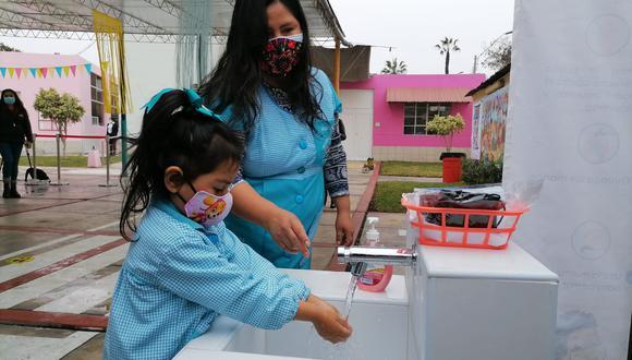 Los colegios cumplieron con los protocolos de seguridad para garantizar la salud de los niños. (Foto:Minedu)