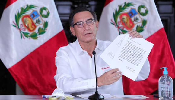 Sigue EN VIVO la conferencia de prensa de Martín Vizcarra este miércoles 01 de abril | Foto: Presidencia Perú