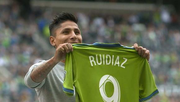 Raúl Ruidíaz fue incluido en el 'mejor equipo de todos los tiempos' de Seattle Sounders   FOTO