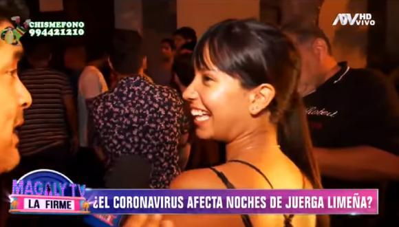 Mujer que fue entrevistada por reportero de Magaly Medina e incumplió aislamiento social pidió disculpas. (Foto: Captura ATV)