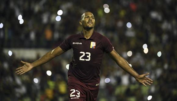 Salomón Rondón se perderá la fecha triple de septiembre de las Eliminatorias Qatar 2022. (Foto: AFP)
