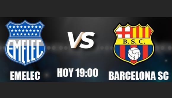 Emelec vs. Barcelona SC  se miden en la LigaPro Serie A por la jornada 11 de la Fase 2.