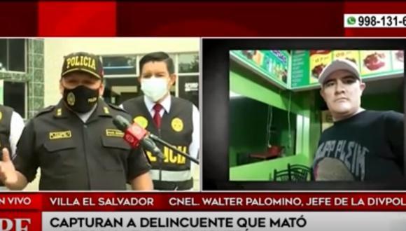 Policía capturó a  Miguel Guillen, integrante de la banda delincuencial 'Los bravazos de 22', y presunto asesino de empresario. Foto: Captura