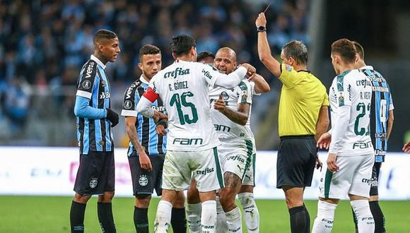 Felipe Melo salió llorando tras ser expulsado en el Palmeiras vs. Gremio por Copa Libertadores | VIDEO