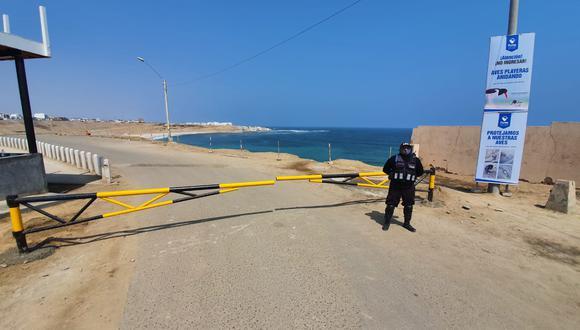 Desde el 12 de agosto se cerró el acceso a la playa El Silencio que se suma a las otras seis del distrito del sur. (Foto: Municipalidad de Punta Hermosa)