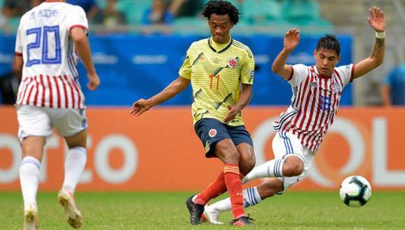 Paraguay vs. Colombia se miden en la fecha seis de las Eliminatorias Qatar 2022. (Foto: AFP)
