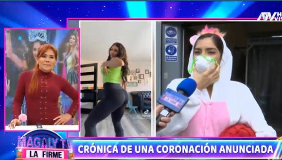 """Korina Rivadeneira declaró para el programa de Magaly Medina y defendió su triunfo en """"Reinas del show"""". (Foto: Captura ATV)."""