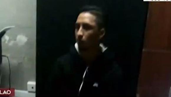 Christian Sánchez, de 22 años, permanece detenido en la comisaría de Ventanilla. (Captura: América Noticias)