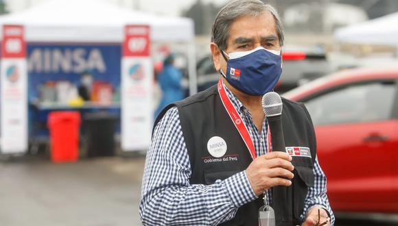 Óscar Ugarte reveló el cronograma de llegada de vacunas para las siguientes semanas. (Foto archivo Twitter @Minsa_Peru )