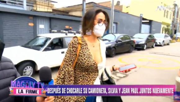 Silvia Cornejo reaparece con Jean Paul Gabuteau tras escándalo por chocar su auto. (Foto: Captura de video)