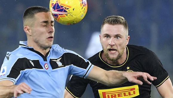 Inter y Lazio se enfrentan por la fecha 22 de la Serie A italiana. (Foto: AFP)