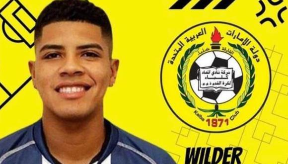 Wilder Cartagena llega a club de Emiratos Árabes tras su paso por Godoy Cruz: (Foto: Ittihad Kalba)