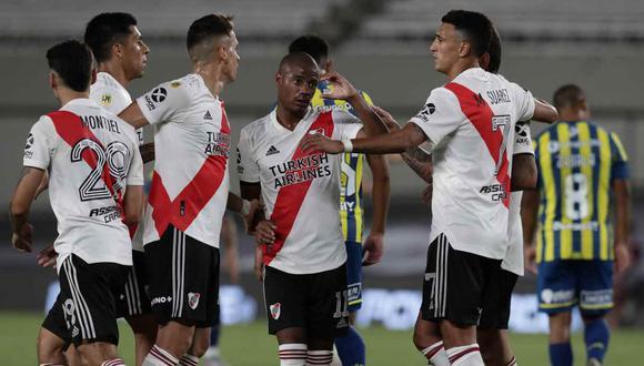 River Plate vs. Argentinos Juniors se enfrentan en la fecha 4 de la Copa de la Liga Profesional. (Foto: AFP)
