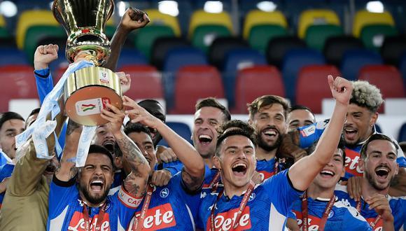Napoli derrotó por penales a Juventus y se quedó con la Copa Italia 2020. Los Bianconeros desperdiciaron dos penales, mientras que los napolitanos convirtieron todos. (Foto: AFP)