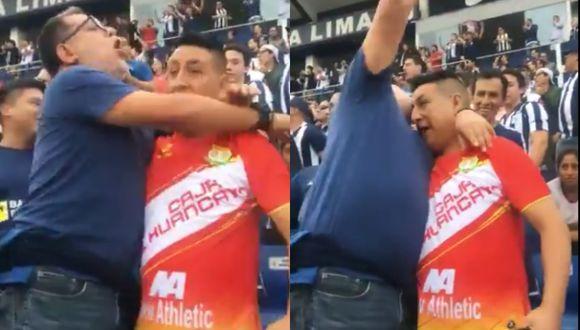 Hinchas de Alianza Lima y Sport Huancayo protagonizaron emotivo abrazo en Matute | Foto: Captura