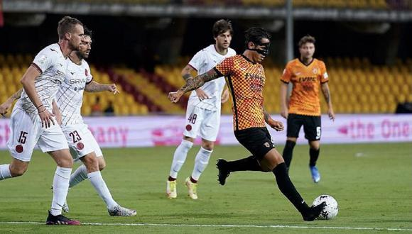 Gianluca Lapadula expresó su sentir tras anotar con Benevento. (Foto: Twitter)