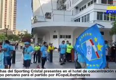 Barcelona vs. Sporting Cristal: Hinchas rimenses presentes en el hotel de concentración | VIDEO