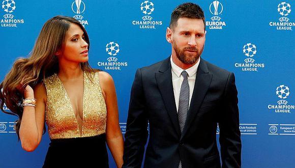 Champions League   Antonela Roccuzzo y su despampanante escote en ceremonia de la Liga de Campeones   VIDEO