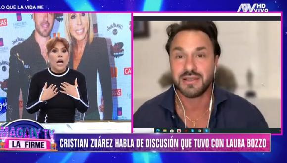 Magaly Medina regresó a la televisión tras vencer el coronavirus y discutió con Cristian Zuárez. (Foto: Captura ATV)