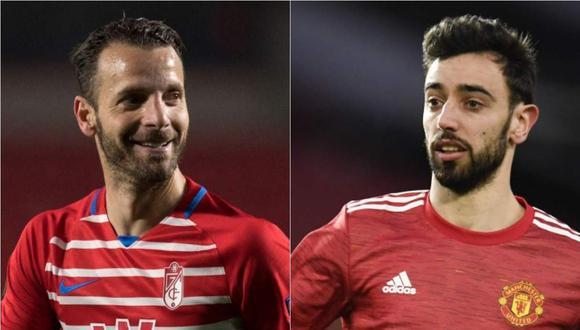 Manchester United vs. Granada se miden en la ida de los cuartos de final la Europa League. (Foto: AFP / EFE)