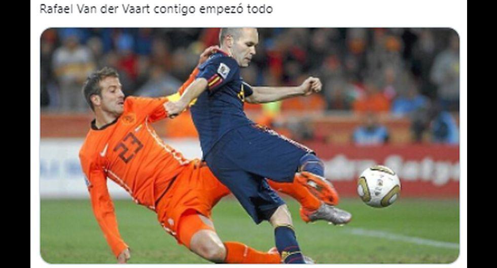 Van der Vaart se convirtió en protagonista de los memes tras eliminación de Países Bajos. (Foto: Facebook)