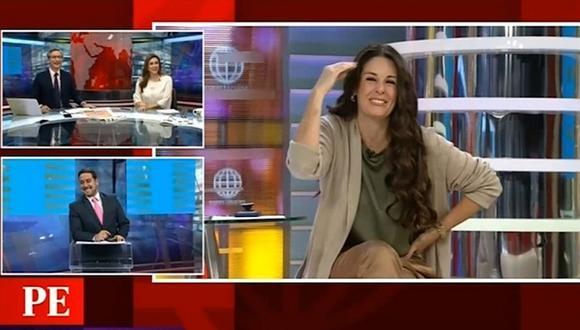 Óscar del Portal y Federico Salazar le juegan pícara broma en vivo a Rebeca Escribens | VIDEO