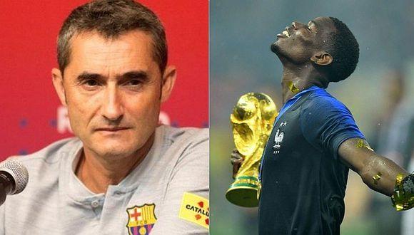 Ernesto Valverde dio tajante respuesta sobre el fichaje de Paul Pogba