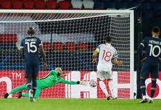 PSG vs. Manchester United: Bruno Fernandes repitió penal ante Keylor Navas y convirtió el 1-0 visitante [VIDEO]
