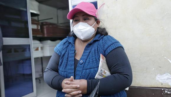 Gregoria Velásquez narró lo ocurrido con su hija Mayurit Salcedo Velásquez (26). (Foto: Violeta Ayasta / GEC)