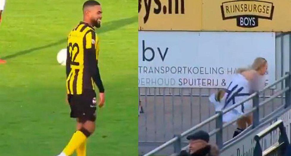 Mujer desnuda interrumpe partido y se le insinúa a futbolistas [VIDEO]
