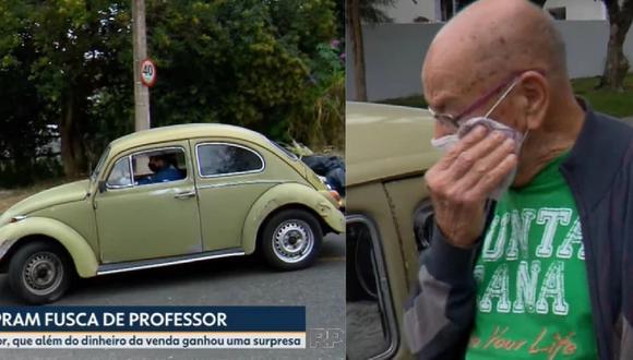 Un docente jubilado de 87 años de Curitiba puso a la venta su carro que tuvo por más de 50 años y grande fue su sorpresa la enterarse que sus alumnos lo compraron para devolvérselo.