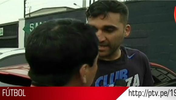 Alianza Lima: Pablo Míguez insulta y agrede a reportero de televisión [VIDEO]