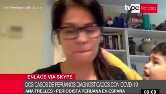 Hijo de periodista Ana Trelles interrumpió su reporte en vivo