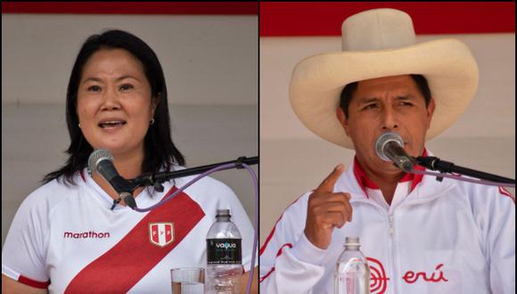 Pedro Castillo y Keiko Fujimori luchan por ser el próximo presidente del Perú. (Foto: Archivo AFP/ César Bazán)