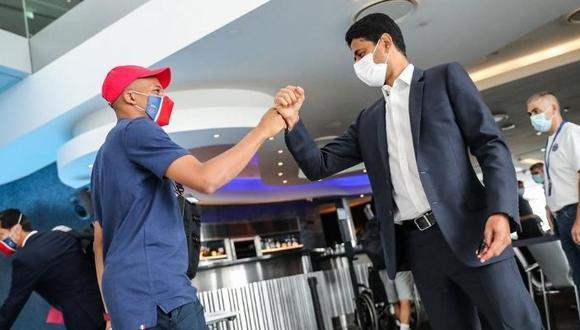 Kylian Mbappé llegó a Lisboa cn  chances de estar ante Atalanta en Champions League