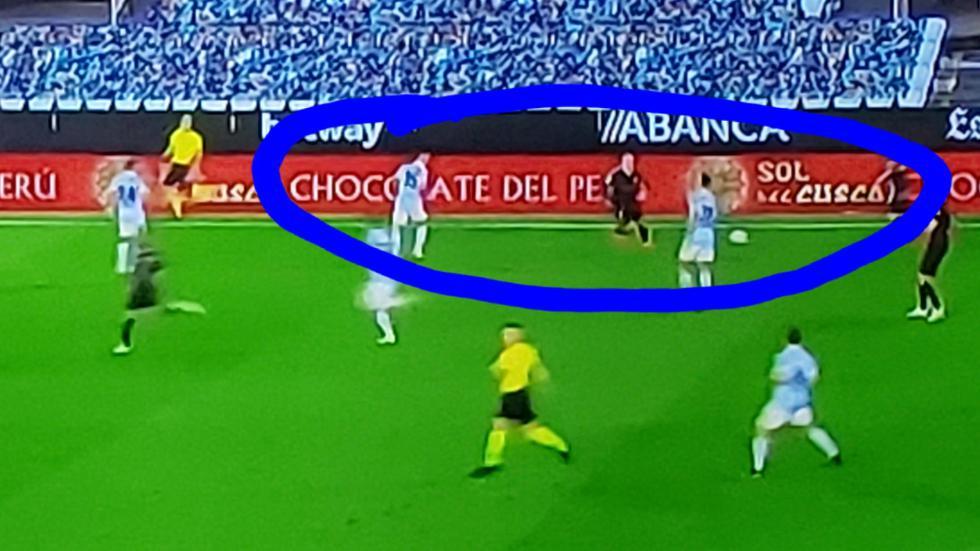 Una marca peruana apareció en el banner publicitario durante el partido entre Barcelona y Celta de Vigo