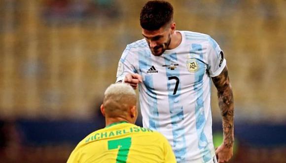 Rodrigo De Paul respondió a Richarlison y los jugadores de Brasil. (Foto: Instagram)
