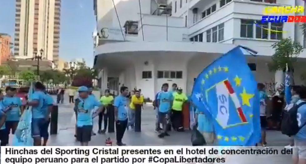 Barcelona vs. Sporting Cristal: Hinchas rimenses presentes en el hotel de concentración | VIDEO