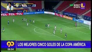 Estos son los cinco mejores goles de la Copa América 2021