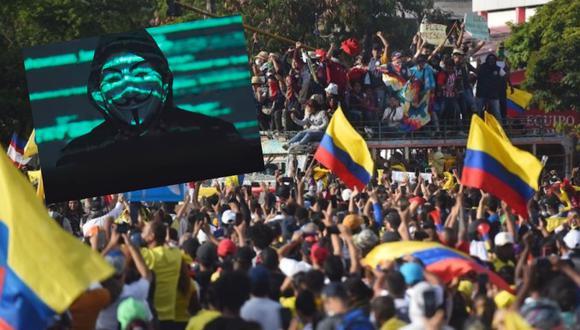 Anonymous publicó video contra el Gobierno de Colombia, tras los actos de violencia en los últimos días.
