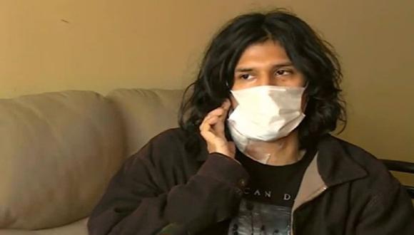 Joven de 26 años resultó herido tras participar en el segundo día de la marcha contra vacancia. (Captura: América Noticias)