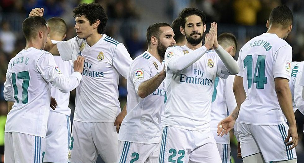 Real Madrid venció 1-2 a Málaga sin Cristiano Ronaldo