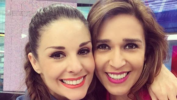Verónica Linares y su comentario a Rebeca Escribens por su vestuario. (Foto: @dona_rebe/@veronicalinaresc)