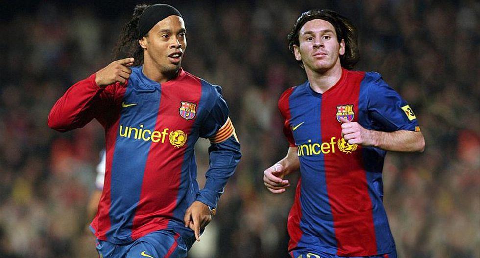 Ronaldinho causa sorpresa con un comentario sobre Lionel Messi