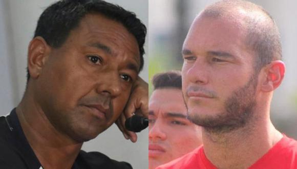 Nolberto Solano y Adrián Zela