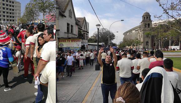 Universitario - Municipal EN VIVO | Hinchas presentan quejas por demora en ingreso al Estadio Nacional [FOTO]