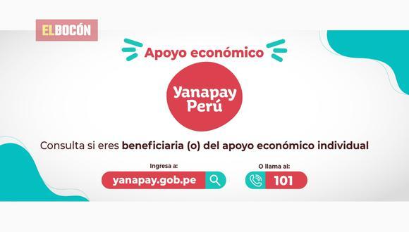 EL BOCÓN te informa sobre todos los detalles del Bono Yanapay que empieza a pagarse este lunes 13 de setiembre a nivel nacional por la pandemia del COVID 19