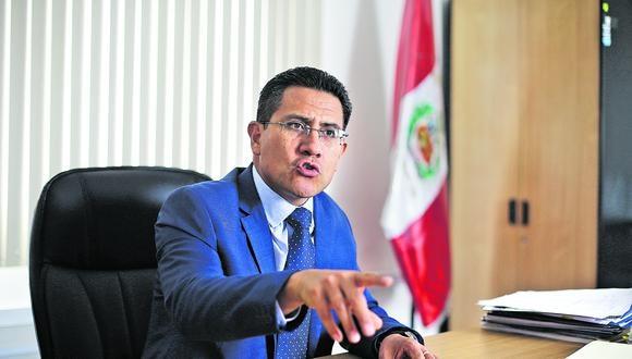 Enco reiteró su pedido para que la fiscal de la Nación, Zoraida Ávalos, se inhiba de investigar al presidente Martín Vizcarra. (Foto: GEC)