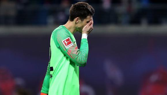 Rune Jarstein falló y permitió el gol de Leipzig para el 2-1 parcial. (Foto: AFP)