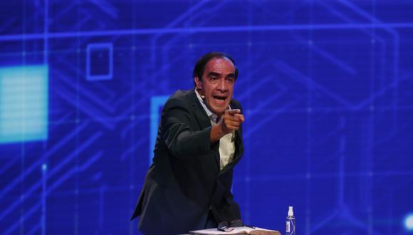 El candidato Yonhy Lescano consideró que se debe reforzar la seguridad en las cárceles. (Foto: Hugo Pérez / @photo.gec )